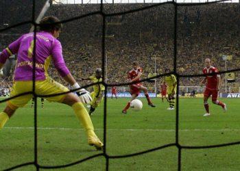 Thomas Müller erzielte gegen Borussia Dortmund sein erste Bundesligator.