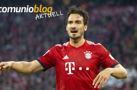 Mats Hummels vom FC Bayern München dirigiert seine Vorderleute