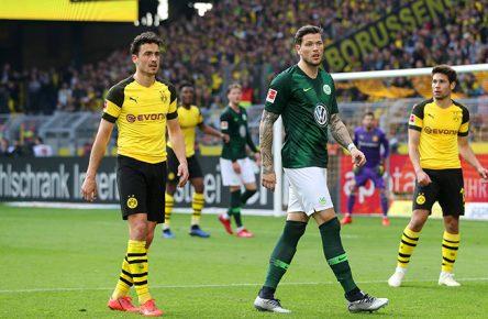 Daniel Ginczek vopm VfL Wolfsburg beim Auswärtsspiel in Dortmund