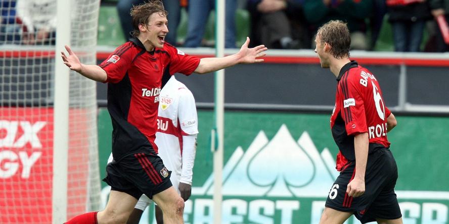 Simon Rolfes (r.) erzielte damals gegen den VfB Stuttgart zwei Tore.