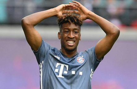 Kingsley Coman (FC Bayern), enttäuscht nach einer vertanen Chance RB Leipzig-FC Bayern München 1. Bundesliga 2018/2019, 1. BL, 1. Bundesliga, DFL, Fußball, Fussball, soccer, Herren, Männer, Maenner, Deutschland, Germany, Ergebnis Berlin, 11.5.2019, Red Bull Arena *** Kingsley Coman FC Bayern disappointed after a missed chance RB Leipzig FC Bayern Munich 1 Bundesliga 2018 2019 1 BL 1 Bundesliga DFL Football Soccer Soccer Men Men Men Germany Germany Result Berlin 11 5 2019 Red Bull Arena