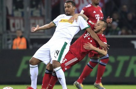 RAFINHA Team FC Bayern Muenchen mit PLEA Alassane DFL Bundesliga Saison 2018 - 2019 Spiel Borussia Moenchengladbach - FC Bayern Muenchen 1 : 5 am 02. 03. 2019 in Moenchengladbach DFL REGULATIONS PROHIBIT ANY USE OF PHOTOGRAPHS as IMAGE SEQUENCES and/or QUASI-VIDEO *** RAFINHA Team FC Bayern Muenchen with PLEA Alassane DFL Bundesliga Season 2018 2019 Game Borussia Moenchengladbach FC Bayern Muenchen 1 5 on 02 03 2019 in Moenchengladbach DFL REGULATIONS PROHIBIT ANY USE OF PHOTOGRAPHS as IMAGE SEQUENCES and or QUASI VIDEO PUBLICATIONxINxGERxSUIxAUTxHUNxSWExNORxDENxFINxLUXxONLY