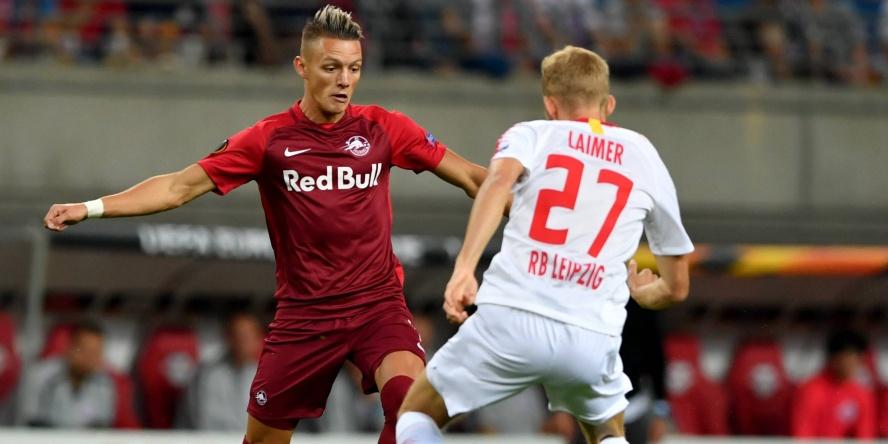 Hannes Wolf (l.) setzte sich in der Europa League gegen RB Leipzig durch.