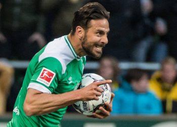 Claudio Pizarro vom SV Werder Bremen