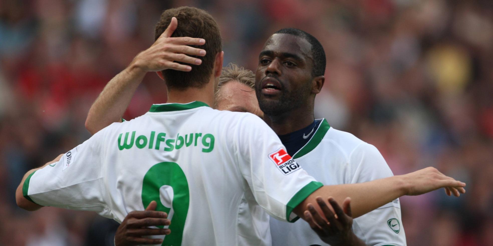 Edin Dzeko und Grafite vom VfL Wolfsburg