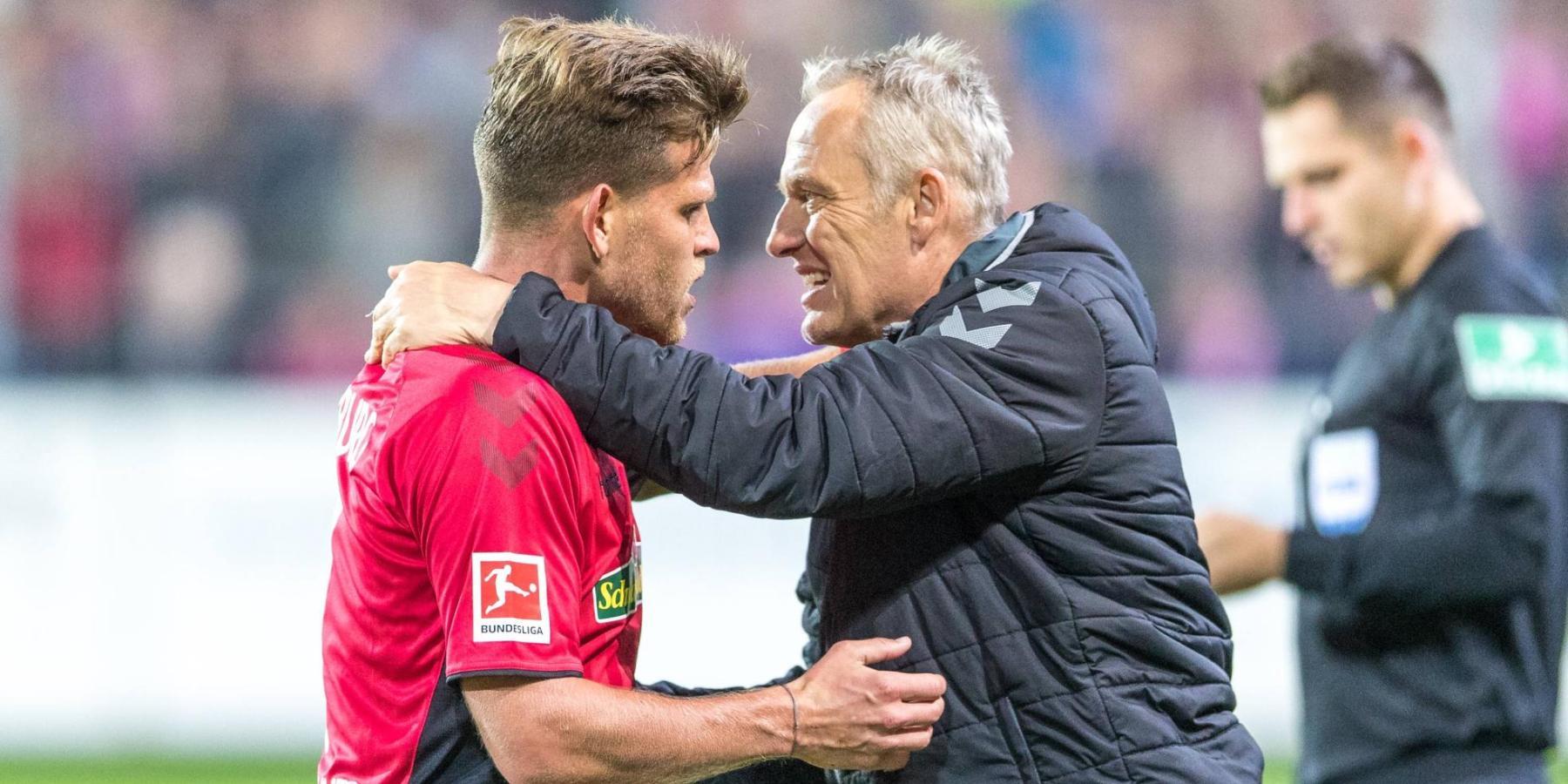 Florian Niederlechner und Christian Streich