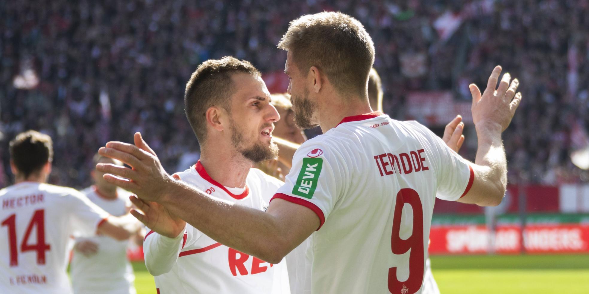 Simon Terodde und Dominick Drexler vom 1. FC Köln