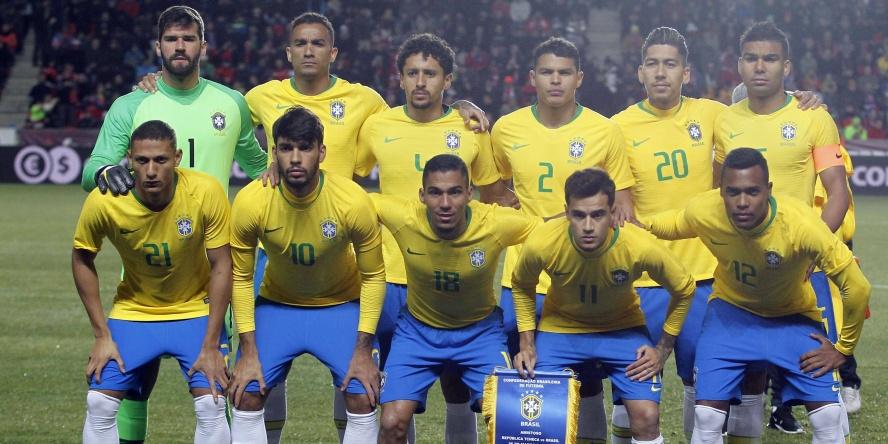 Die brasilianische Nationalmannschaft im Testspiel gegen März.