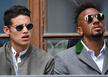 James Rodriguez und Jerome Boateng