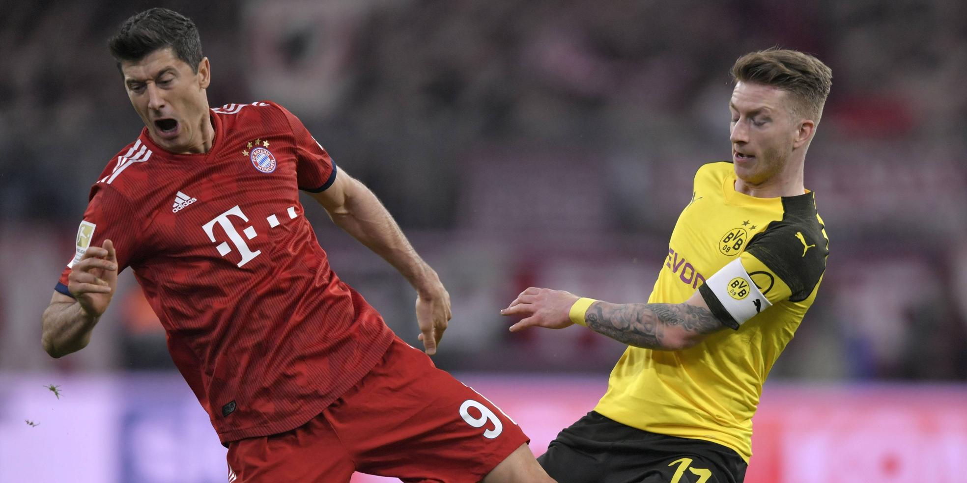 Robert Lewandowski gegen Marco Reus