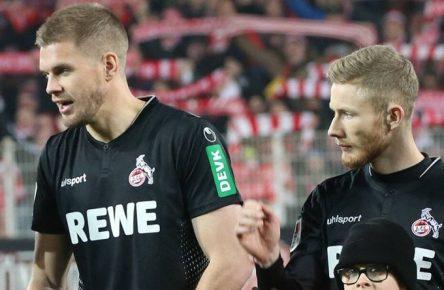 Simon Terodde und Florian Kainz (1. FC Köln)
