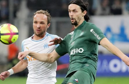 28 VALERE GERMAIN (OM) - 28 NEVEN SUBOTIC (ASSE) FOOTBALL : Marseille vs Saint Etienne - Ligue 1 Conforama - 03/03/2019 FEP/Panoramic PUBLICATIONxNOTxINxFRAxITAxBEL