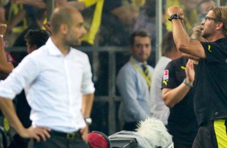 Jürgen Klopp besiegte Pep Guardiola in dessen erstem Pflichtspiel für den FC Bayern.