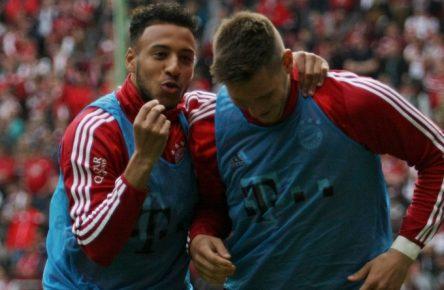 Corentin Tolisso (l.) und Niklas Süle könnten beim FC Bayern in der kommenden Saison richtig durchstarten.
