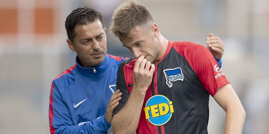 Lukas Klünter mit Trainer Ante Covic