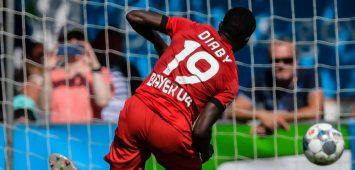 Moussa Diaby trifft für Bayer Leverkusen
