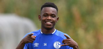 Rabbi Matondo ( Schalke 04 ) gut gelaunt nach dem Training. 03.07.2019, Fussball, Training, Schalke 04 DFL REGULATIONS PROHIBIT ANY USE OF PHOTOGRAPHS AS IMAGE SEQUENCES AND/OR QUASI-VIDEO 03.07.2019, Fussball, Training, Schalke 04 Gelsenkirchen *** Rabbi Matondo Schalke 04 in a good mood after training 03 07 2019, football, training, Schalke 04 DFL REGULATIONS PROHIBIT ANY USE OF PHOTOGRAPHS AS IMAGE SEQUENCES AND OR QUASI VIDEO 03 07 2019, football, training, Schalke 04 Gelsenkirchen Copyright: xEIBNER/ThomasxThienelx EP_TTL