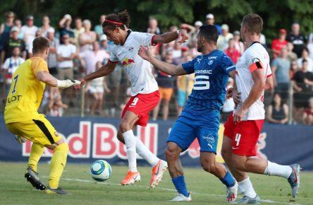 Yussuf Poulsen im Testspiel gegen Stade Rennes