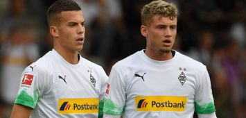 v.li:Laszlo BENES (Borussia Moenchengladbach), Mickael Cuisance (Borussia Moenchengladbach). Aktion. Borussia Moenchengladbach-Istanbul Basaksehir 5-1. am 17.07.2019 in Kufstein.Testspiel, DFL REGULATIONS PROHIBIT ANY USE OF PHOTOGRAPHS AS IMAGE SEQUENCES AND/OR QUASI-VIDEO. *** v li Laszlo BENES Borussia Moenchengladbach , Mickael Cuisance Borussia Moenchengladbach Action Borussia Moenchengladbach Istanbul Basaksehir 5 1 on 17 07 2019 in Kufstein Test match, DFL REGULATIONS PROHIBIT ANY USE OF PHOTOGRAPHS AS IMAGE SEQUENCES AND OR QUASI VIDEO