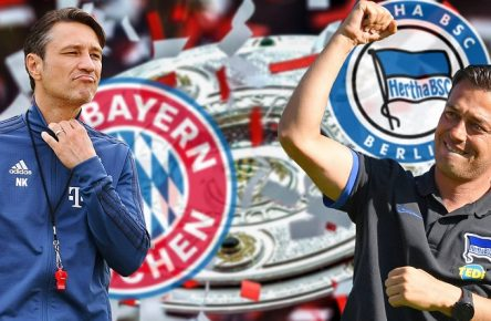 FOTOMONTAGE: Niko KOVAC (Trainer Bayern Muenchen) trifft am 1-Spieltag auf seinen Landsmann Ante COVIC,Trainer (Hertha BSC). Vorschau zum Bundesliga Auftaktspiel FC Bayern Muenchen-Hertha BSC Berlin am 15.08.2019 in der ALLIANZ ARENA in Muenchen, Fussball 1. Bundesliga,Saison 2019/2020 *** PHOTOMONTAGE Niko KOVAC coach Bayern Muenchen meets his compatriot Ante COVIC,coach Hertha BSC preview of the Bundesliga opening match FC Bayern Muenchen Hertha BSC Berlin on 15 08 2019 in the ALLIANZ ARENA in Muenchen, soccer 1 Bundesliga,season 2019 2020