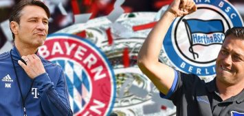 FOTOMONTAGE: Niko KOVAC (Trainer Bayern Muenchen) trifft am 1-Spieltag auf seinen Landsmann Ante COVIC,Trainer (Hertha BSC). Vorschau zum Bundesliga Auftaktspiel FC Bayern Muenchen-Hertha BSC Berlin am 15.08.2019 in der ALLIANZ ARENA in Muenchen, Fussball 1. Bundesliga,Saison 2019/2020 *** PHOTOMONTAGE Niko KOVAC coach Bayern Muenchen meets his compatriot Ante COVIC,coach Hertha BSC preview of the Bundesliga opening match FC Bayern Muenchen Hertha BSC Berlin on 15 08 2019 in the ALLIANZ ARENA in Muenchen, soccer 1 Bundesliga,season 2019 2020