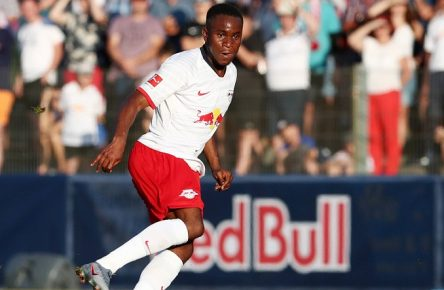 RB Leipzig - St. Rennes / Fussball Testspiel Markranstädt, 26.07.2019, Stadion am Bad, Fussball, Testspiel , RB Leipzig (GER) vs. Stade Rennes (FRA) 2:0 , Im Bild: Ademola Lookman (17, RB Leipzig) , *** RB Leipzig St Rennes Football Test Game Markranstädt, 26 07 2019, Stadion am Bad, Football, Test Game , RB Leipzig GER vs Stade Rennes FRA 2 0 , In the picture Ademola Lookman 17, RB Leipzig ,