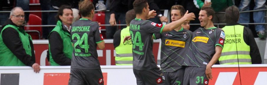 Branimir Hrgota (r.) erzielte damals gegen den FSV Mainz 05 einen Dreierpack.