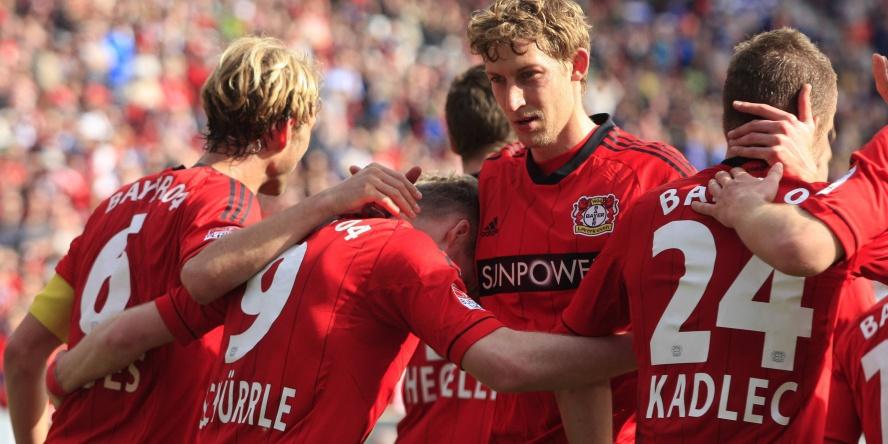 Stefan Kießling und Andre Schürrle (verdeckt) rasierten damals die TSG.