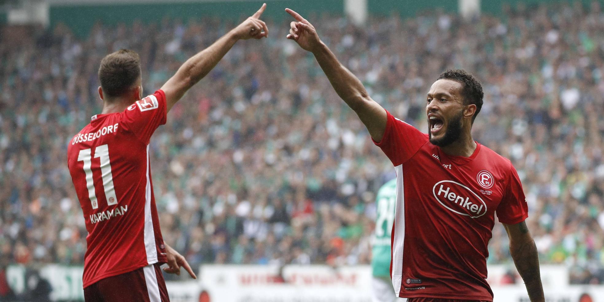 Kenan Karaman und Lewis Baker von Fortuna Düsseldorf