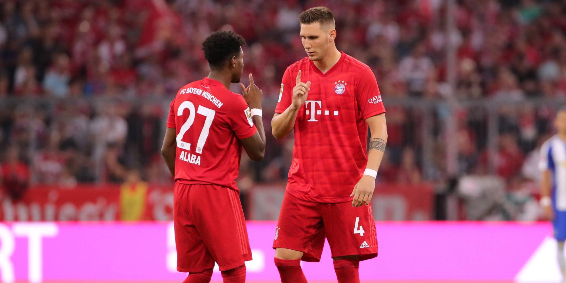 David Alaba und Niklas Süle vom FC Bayern München
