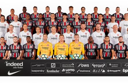 19.07.2019, xjhx, Fussball 1.Bundesliga, Eintracht Frankfurt - Fototermin 2019/2020 Porträttermin 2019/2020, Mannschaftsfoto emspor, Obere Reihe von links nach rechts: Marjian Cavar (42), Tuta (35), Danny da Costa (24), David Abraham (19), Marco Russ (23), Evan Obite Ndicka (2), Lucas Torro (16), Goncalo Paciencia (39), Timothy Chandler (22), Dominik Kohr (28), Ante Rebic (4), Djibril Sow (8) 3. Reihe von links nach rechts: Adi Hütter (Chef-Trainer), Christian Peintinger (Co-Trainer), Armin Reutershahn (Co-Trainer), Gelson Fernandes (5), Almamy Toure (18), Filip Kostic (10), Erik Durm (25), Daichi Kamada (40), Dejan Joveljic (7), Makoto Hasebe (20), Daichi Kamada (40), Markus Murrer (Athletiktrainer), Moppes Petz (Torwarttrainer), Martin Spohrer (Athletiktrainer) 2. Reihe von links nach rechts: Thomas Westphal (Leiter Spielbetrieb), Christoph Preuß (Teammanager), Prof. Dr. med. Florian Pfab (Leiter der medizinischen Abteilung), Christian Haser (Co-Leiter medizinische Abteilung), Benjamin Sommer (Reha-Trainer), Koichi Kurokawa (Medizinische Abteilung), Patrick Kux (Physiotherapeut), Thomas Stubner (Pysiotherapeut/Osteopath), Igor Simonov (Materialwart), Franco Lionti (Materialwart) Untere Reihe von links nach rechts: Jonathan De Guzman (6), Mijat Gacinovic (11), Nils Stendera (26), Taleb Tawatha (33), Felix Wiedwald (29), Frederik Rönnow (1), Jan Zimmermann (37), Jetro Willems (15), Sahverdi Cetin (30), Marc Stendera (21), Nicolai Müller (27) (DFL/DFB REGULATIONS PROHIBIT ANY USE OF PHOTOGRAPHS as IMAGE SEQUENCES and/or QUASI-VIDEO) Frankfurt *** 19 07 2019, xjhx, Soccer 1 Bundesliga, Eintracht Frankfurt Photo date 2019 2020 Portrait date 2019 2020, Team photo emspor, Top row from left to right Marjian Cavar 42 , Tuta 35 , Danny da Costa 24 , David Abraham 19 , Marco Russ 23 , Evan Obite Ndicka 2 , Lucas