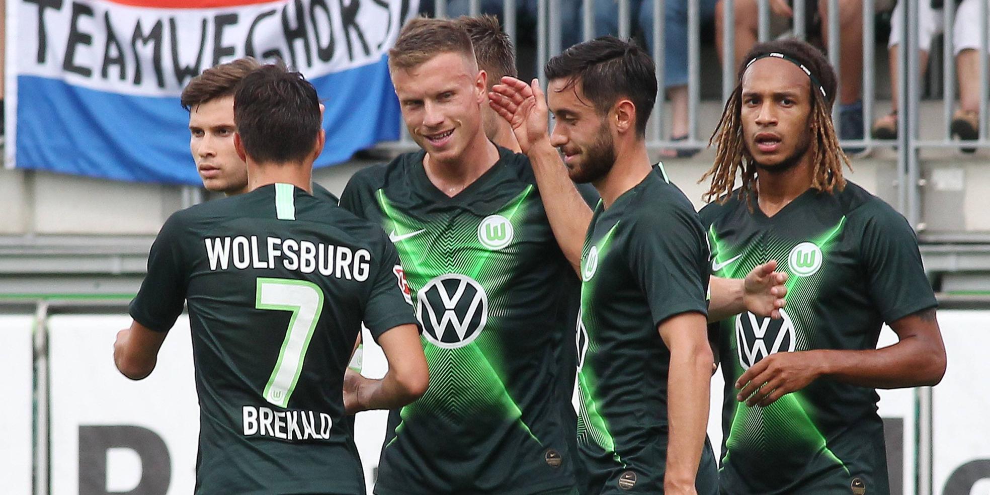 Yannick Gerhardt trifft beim 8:1-Sieg des VfL Wolfsburg