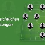Die voraussichtlichen Aufstellungen: Borussia Mönchengladbach – Eintracht Frankfurt