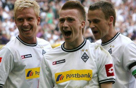Marco Reus (M.) erzielte gegen den 1. FC Köln damals zwei Treffer.