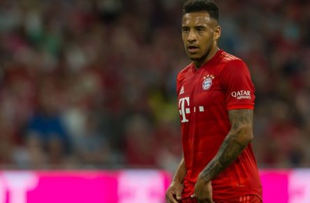 Muenchen, Germany 16.08.2019, 1.Bundesliga, FC Bayern Muenchen vs. Hertha BSC, 1.Spieltag, Corentin Tolisso (FCB) Schaut, looks on, ( Muenchen Allianz Arena Bayern Germany eu-images-09-541-023973 *** Munich, Germany 16 08 2019, 1 Bundesliga, FC Bayern Munich vs. Hertha BSC, 1 Matchday, Corentin Tolisso FCB Schaut, looks on, Munich Allianz Arena Bayern Germany eu images 09 541 023973 eu-images-541 DFL REGULATIONS PROHIBIT ANY USE OF PHOTOGRAPHS AS IMAGE SEQUENCES AND/OR QUASI-VIDEO.