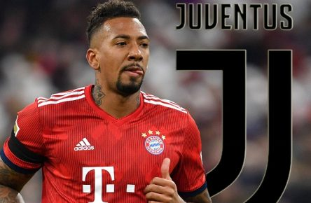 FOTOMONTAGE: Jerome BOATENG (Bayern Muenchen) offenbar vor Last Minute Wechsel zu Juventus Turin. Archivfoto: Jerome BOATENG (Bayern Muenchen), Aktion,Einzelbild,angeschnittenes Einzelmotiv,Halbfigur,halbe Figur. Fussball 1. Bundesliga, 21.Spieltag,Spieltag21, FC Bayern Muenchen M) - FC Schalke 04 (GE) 3-1, am 09.02.2019 in Muenchen A L L I A N Z A R E N A, DFL REGULATIONS PROHIBIT ANY USE OF PHOTOGRAPHS AS IMAGE SEQUENCES AND/OR QUASI-VIDEO.  *** FOTOMONTAGE Jerome BOATENG Bayern Muenchen apparently last minute change to Juventus Turin archive photo Jerome BOATENG Bayern Muenchen , action,single picture,cut single motif,half figure,half figure football 1 Bundesliga, 21 Matchday,Matchday21, FC Bayern Munich M FC Schalke 04 GE 3 1, on 09 02 2019 in Munich A L L I A N Z A R E N A, DFL REGULATIONS PROHIBIT ANY USE OF PHOTOGRAPHS AS IMAGE SEQUENCES AND OR QUASI VIDEO ÃÂ