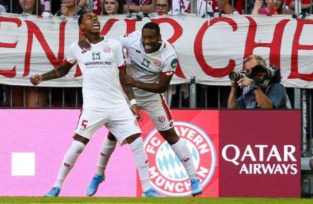 Da war die Mainzer Welt noch in Ordnung: Jean-Paul Boetius traf zum 1:0 in München.