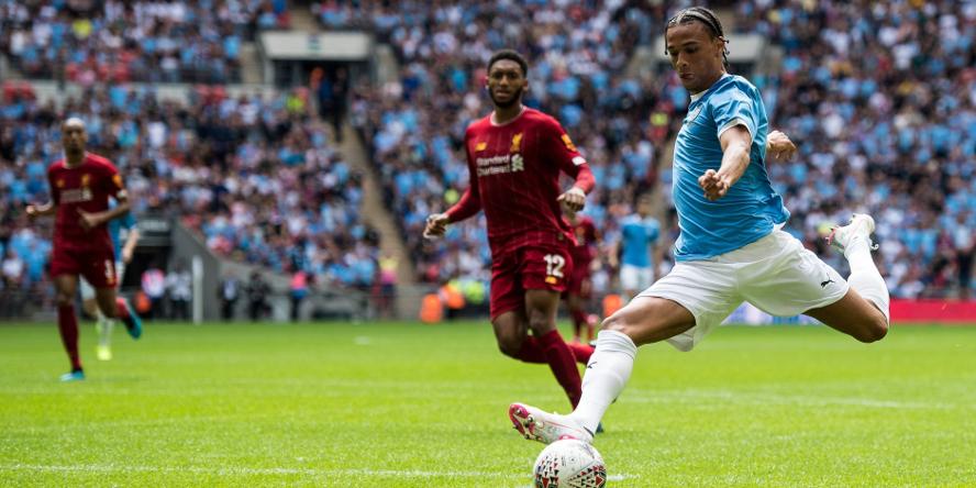 Leroy Sane bei seinem letzten Einsatz für Manchester City