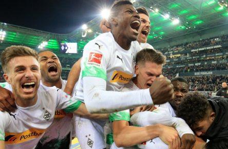 Hatten einen angenehmen Spieleabend: Das Team von Borussia Mönchengladbach.