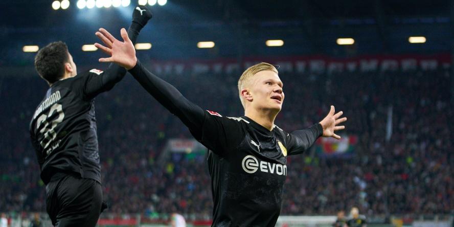 Erling Braut Haaland erzielte bei seinem BVB-Debüt eine Hattrick.