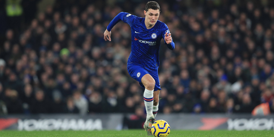 Andreas Christensen am Ball für den FC Chelsea