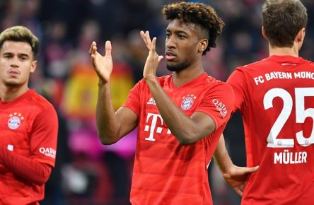 v.re:Thomas MUELLER MÜLLER,Bayern Muenchen, Kingsley COMAN Bayern Muenchen, Philippe COUTINHO Bayern Muenchen, nach Spielende,Aktion, Fussball 1. Bundesliga,21.Spieltag,Spieltag21, FC Bayern Muenchen M -RB Leipzig L 0-0, am 09.02.2020 in Muenchen A L L I A N Z A R E N A, DFL REGULATIONS PROHIBIT ANY USE OF PHOTOGRAPHS AS IMAGE SEQUENCES AND/OR QUASI-VIDEO. *** v re Thomas MUELLER MUELLER,Bayern Muenchen , Kingsley COMAN Bayern Muenchen , Philippe COUTINHO Bayern Muenchen , after the end of the game,Action, Football 1 Bundesliga,21 Matchday,Matchday21, FC Bayern Munich M RB Leipzig L 0 0, on 09 02 2020 in Munich A L L I A N Z A R E N A, DFL REGULATIONS PROHIBIT ANY USE OF PHOTOGRAPHS AS IMAGE SEQUENCES AND OR QUASI VIDEO