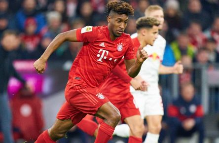 Football Munich - Leipzig, Munich Feb 09, 2020. Kingsley COMAN, FCB 29 FC BAYERN MUNICH - RB LEIPZIG 0-0 - DFL REGULATIONS PROHIBIT ANY USE OF PHOTOGRAPHS as IMAGE SEQUENCES and/or QUASI-VIDEO - 1.German Soccer League , Munich, February 09, 2020. Season 2019/2020, match day 21, FCB, München, Red Bull,