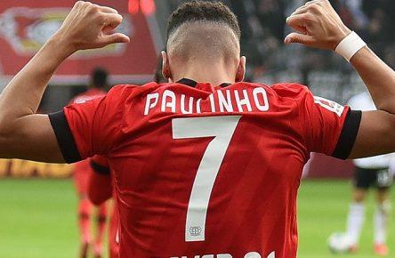 07.03.2020, xhbx, Fussball 1.Bundesliga, Bayer 04 Leverkusen - Eintracht Frankfurt emspor, v.l. Torjubel, Goal celebration, celebrate the goal 3:0 durch Paulinho Bayer Leverkusen DFL/DFB REGULATIONS PROHIBIT ANY USE OF PHOTOGRAPHS as IMAGE SEQUENCES and/or QUASI-VIDEO Leverkusen *** 07 03 2020, xhbx, Football 1 Bundesliga, Bayer 04 Leverkusen Eintracht Frankfurt emspor, v l Goal celebration, celebrate the goal 3 0 by Paulinho Bayer Leverkusen DFL DFB REGULATIONS PROHIBIT ANY USE OF PHOTOGRAPHS as IMAGE SEQUENCES and or QUASI VIDEO Leverkusen