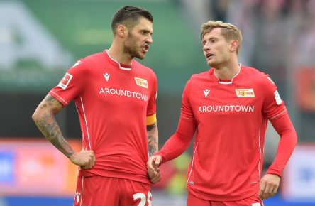 Christopher Trimmel und Christopher Lenz von Union Berlin
