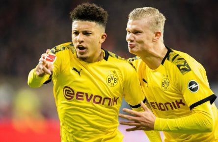 Jadon Sancho und Erling Haaland von Borussia Dortmund