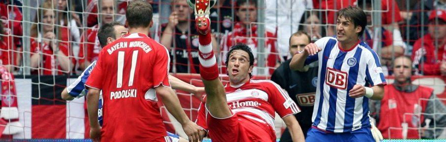 Luca Toni traf gegen Hertha BSC drei Mal.