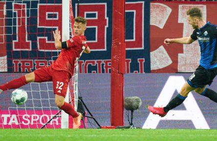 Dennis Srbeny vom SC Paderborn erzielt sogar beim FC Bayern ein Tor