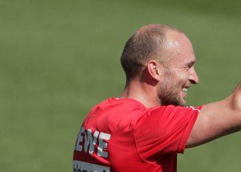 Jubelt bereits im Training beim 1. FC Köln: Toni Leistner