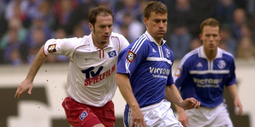Ebbe Sand (r.) und Sergej Barbarez überragten 2001.